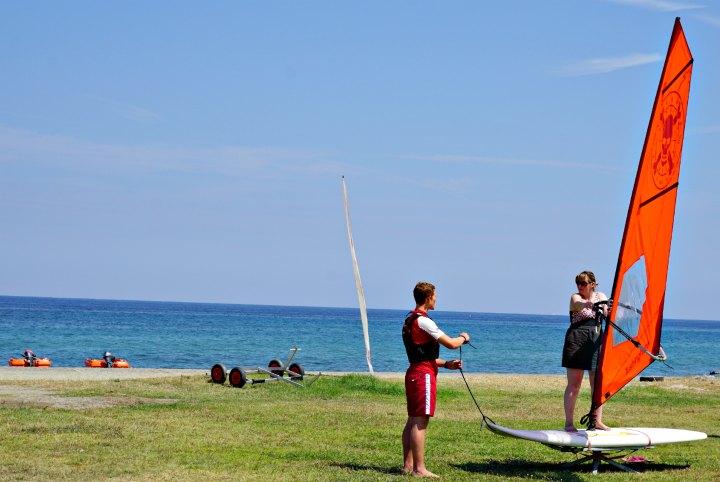 wind surfing tuition mar warner