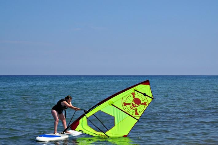 Mark Warner wind surfing