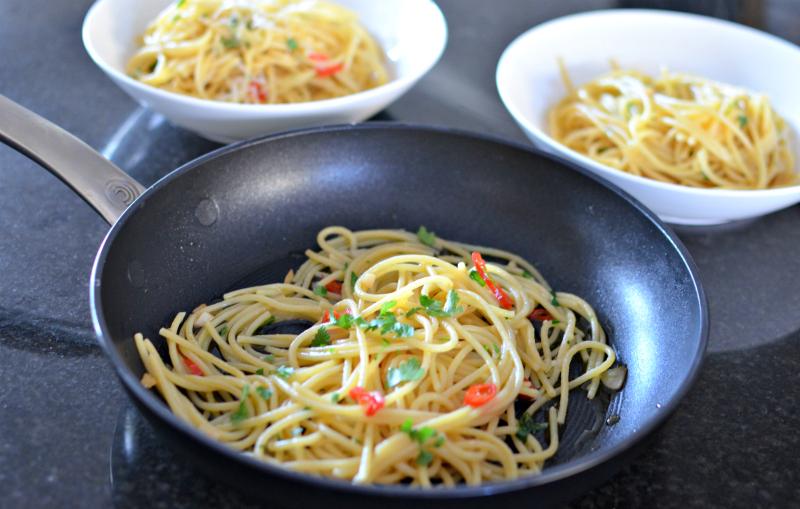 chilli and garlic pasta