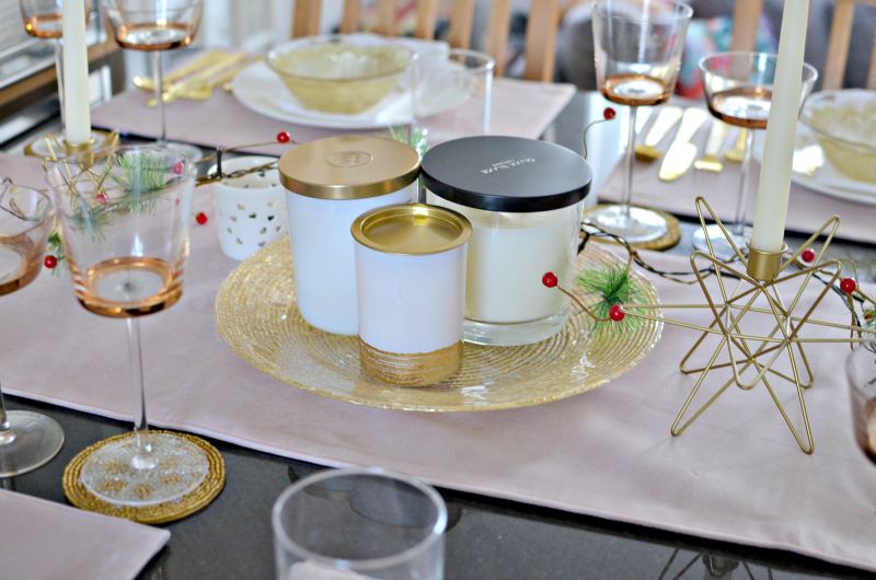 homesense decorating a Christmas table