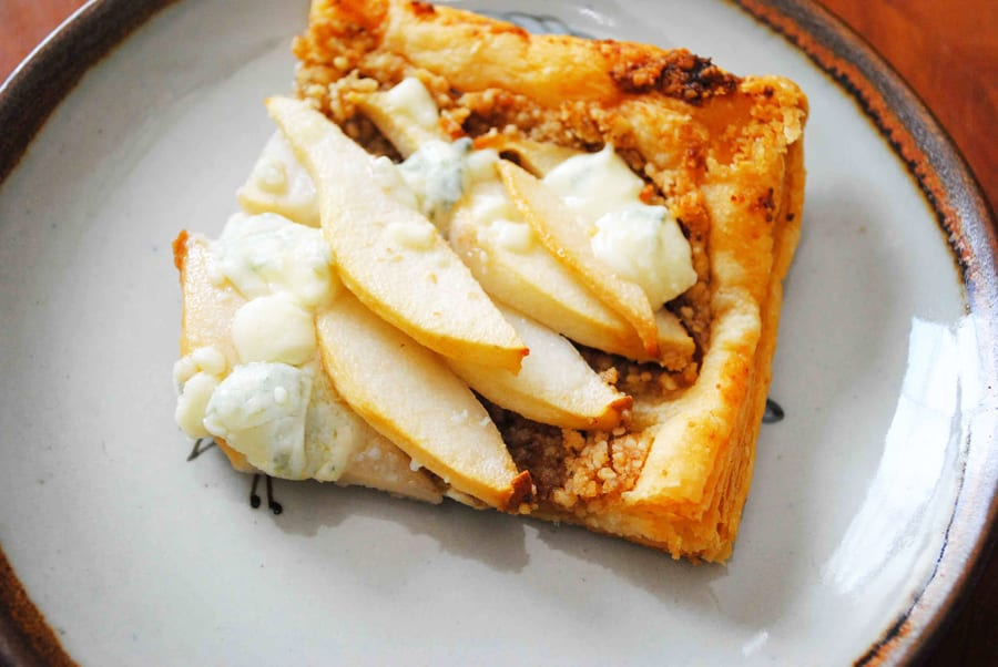 Pear Walnut & Blue Cheese Tart