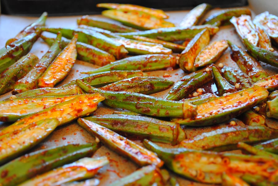 BBQ Blistered Okra