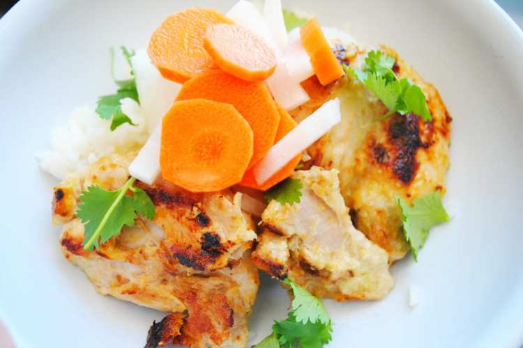 Lemongrass Chicken with Pickled Vegetables