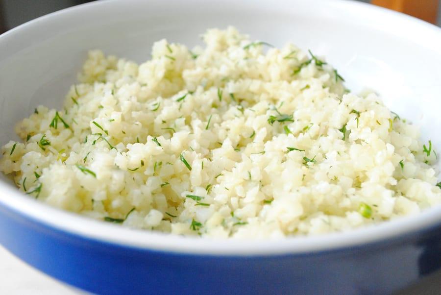 Dill & Lemon Cauliflower Rice