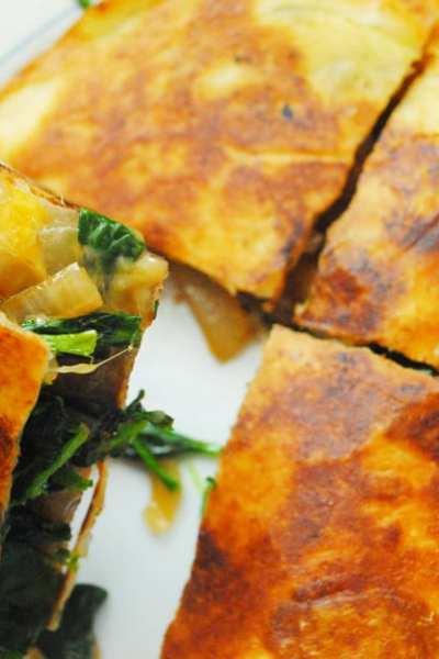 Spinach & Mushroom Quesadillas