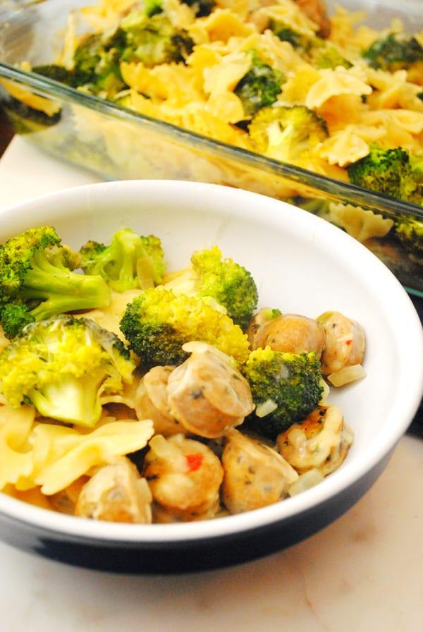 Sausage Broccoli Pasta Bake