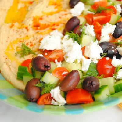 Loaded Greek Hummus Dip