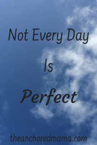 Not every day is perfect, but how we react is up to us.