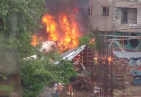 Chartered plane crash in Mumbai: At least five persons feared dead in the crash.