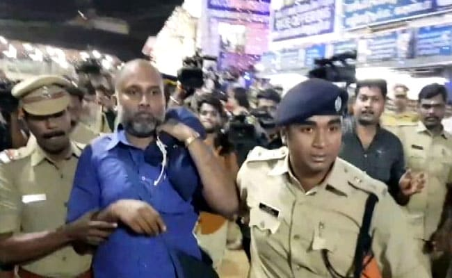 Sabarimala Protests: The police said people were detained when they refused to leave the temple after the evening prayer rituals.