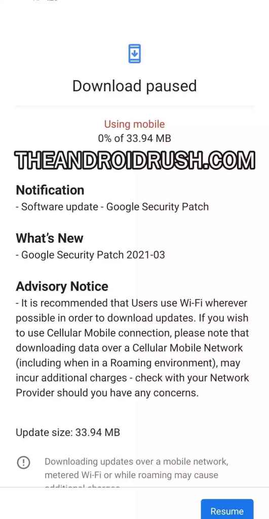 Nokia 8.1 March 2021 Security Update Screenshot - The Android Rush