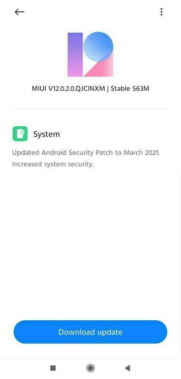 Redmi 9 Prime March 2021 Security Update Screenshot - The Android Rush