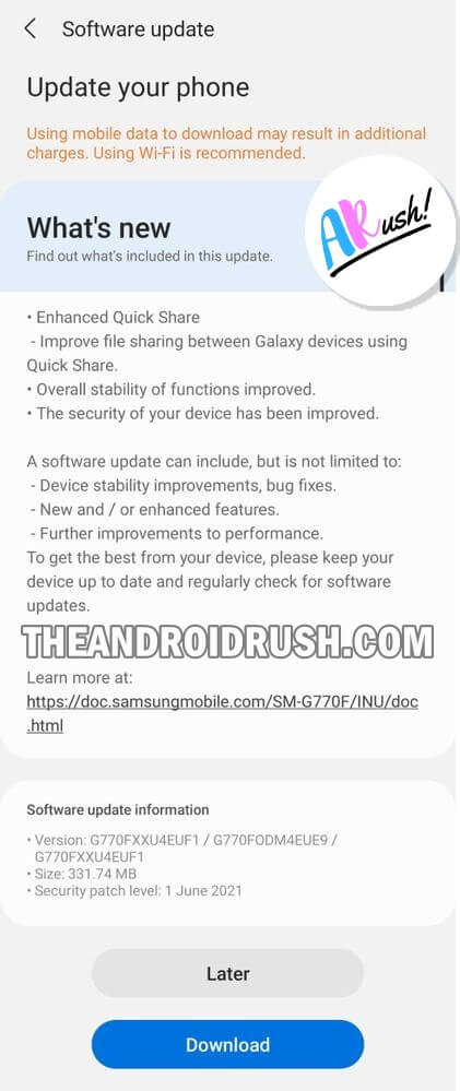 Samsung Galaxy S10 Lite June 2021 Security Update Rolling Out In India - The Android Rush