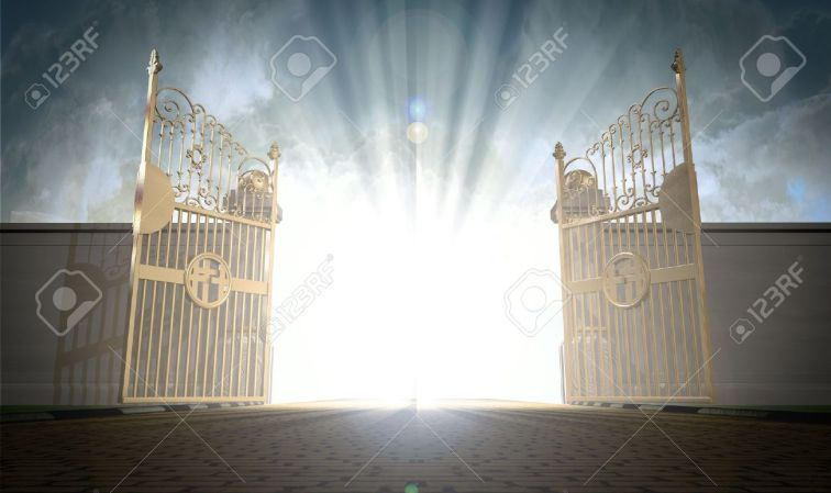 36164768-a-depiction-of-the-pearly-gates-of-heaven-open-with-the-bright-side-of-heaven-contrasting-with-the-d