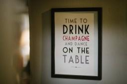 Always plenty of Champagne on offer!