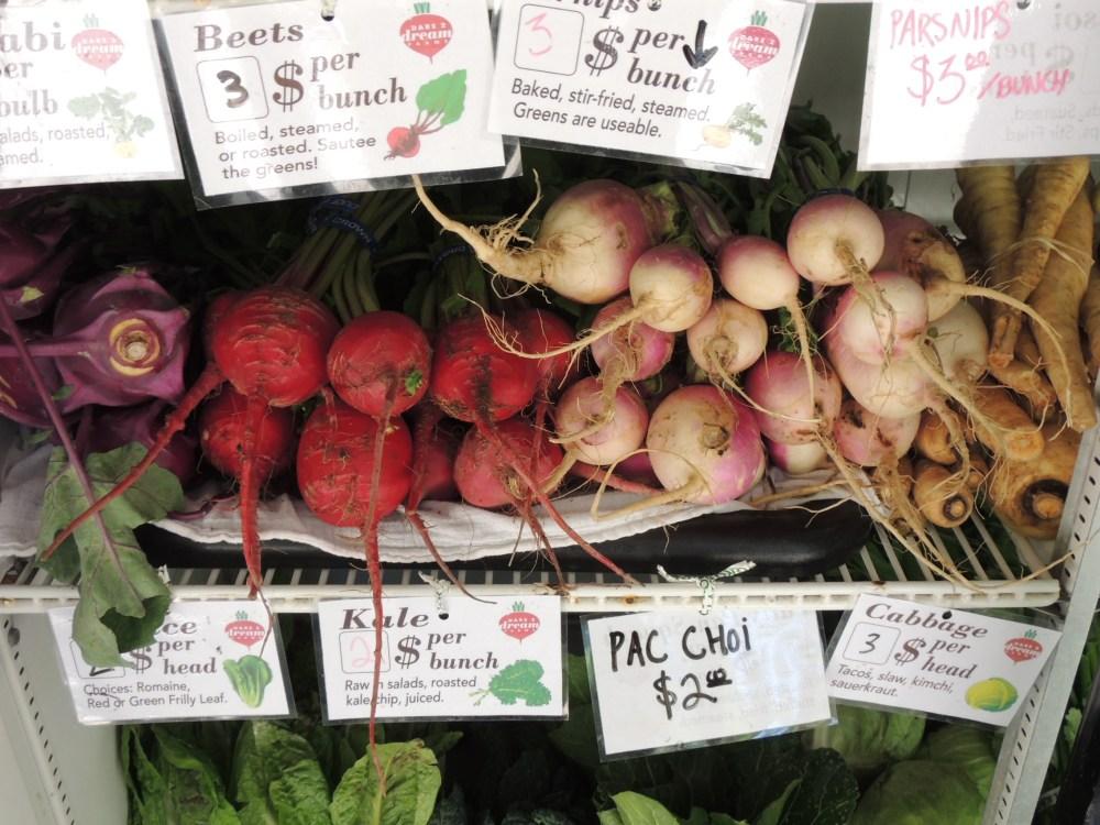 Fresh veggies at the Dare 2 Dream farm stand