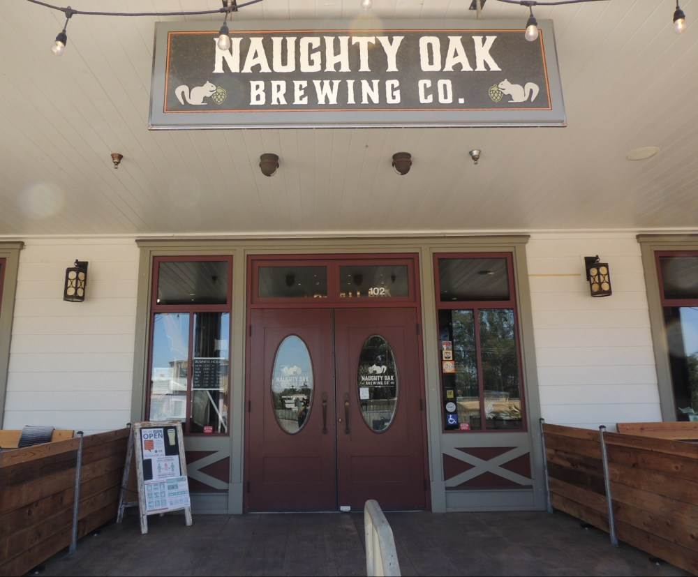 Front door at Naughty Oak Brewing Company in Orcutt California