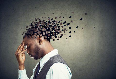 Memory,Loss,Due,To,Dementia,Or,Brain,Damage.,Side,Profile