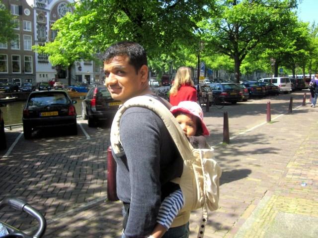 Amsterdam 2014. Asha in a sling