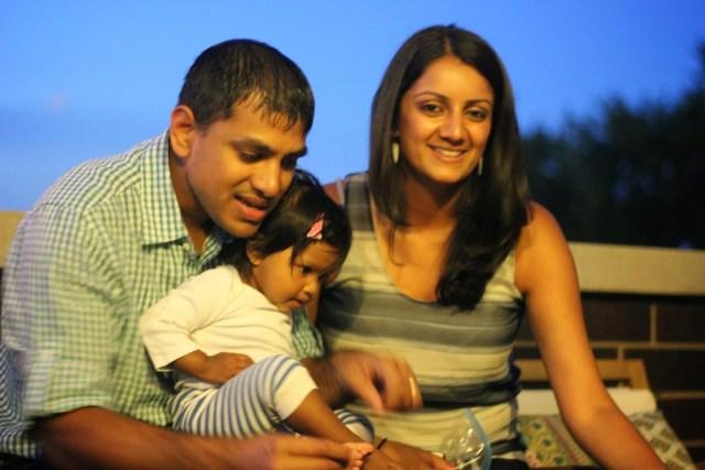 July 4th 2014. Gaurang, Komal, and Asha