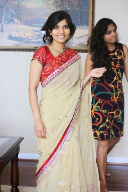 Chika in Sari