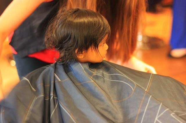 Asha's first haircut