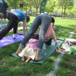 Yoga in Park, Chicago IL