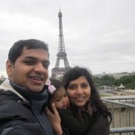 Asha, Devang, and Chika in Paris