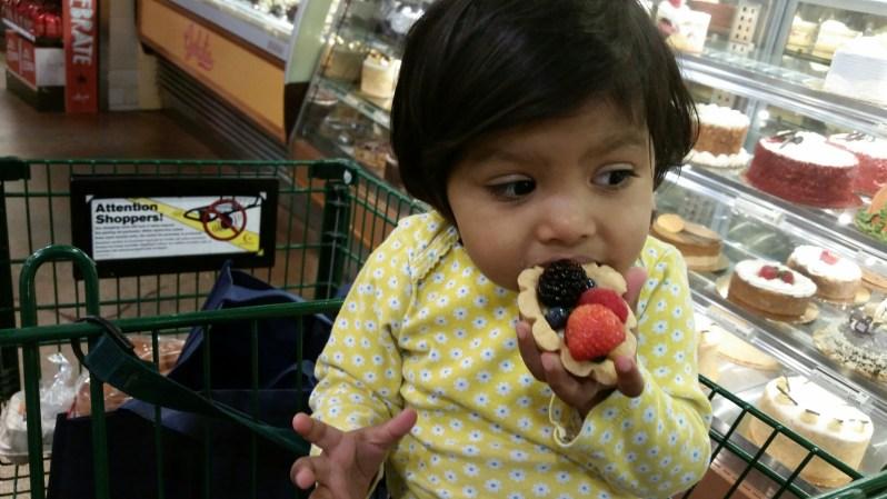Asha grocery shopping