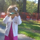 Asha at NCMA with her binoculars