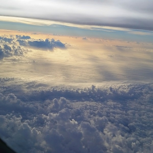 Airplane clouds