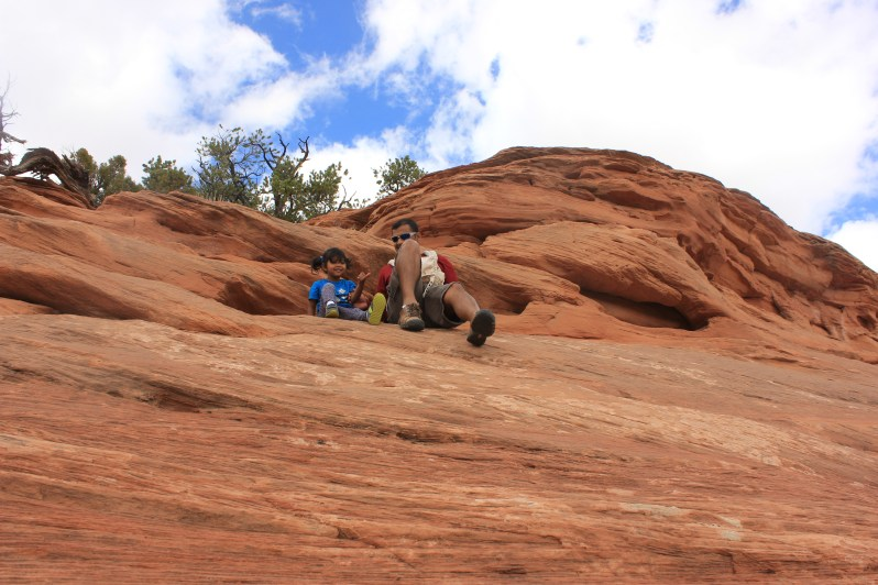 Utah, Arches National Park, Travel, Devang, Asha, Rock Climbing