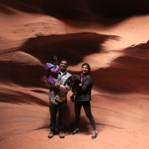 Arizona, Antelope Canyons, Travel, Family, Asha, Arjun, Family Photo
