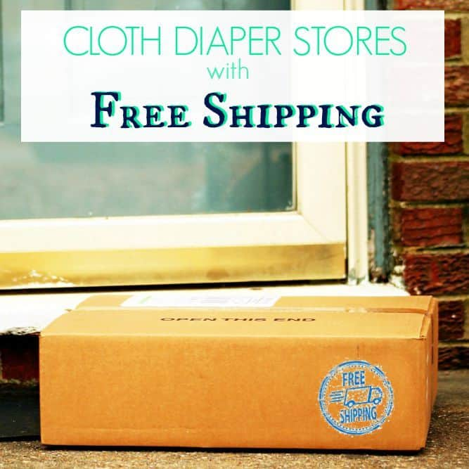 List of cloth diaper stores with FREE shipping & low threshold shipping (US)