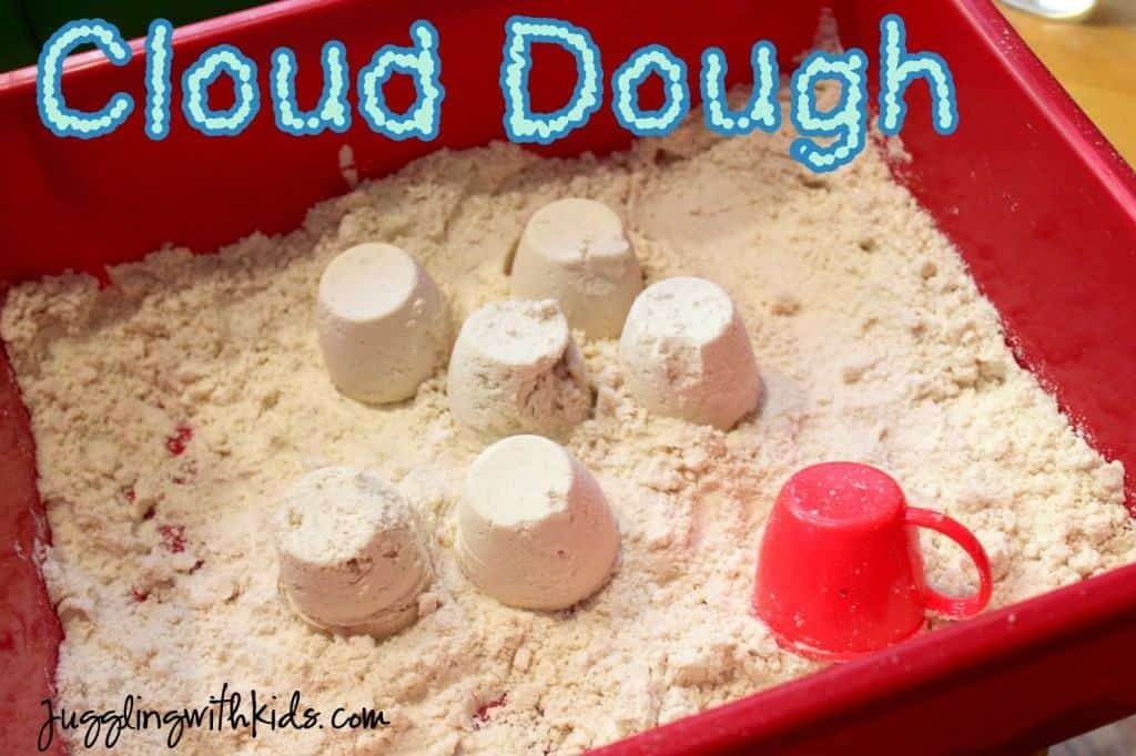 Toddler Crafts & Activities Roundup - cloud dough