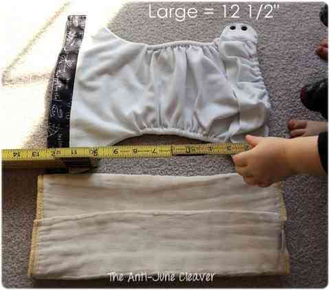Using prefold diapers as pocket inserts