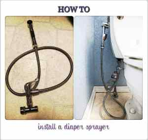 How to install a diaper sprayer