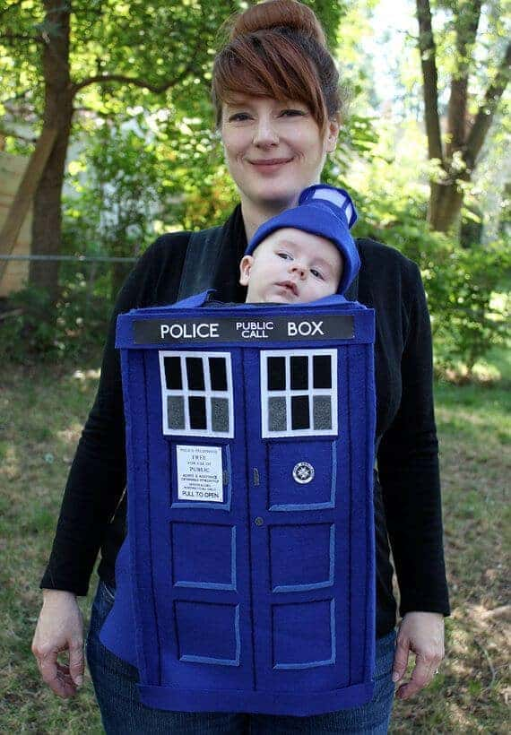 Creative Babywearing Halloween Costumes - Dr. Who TARDIS