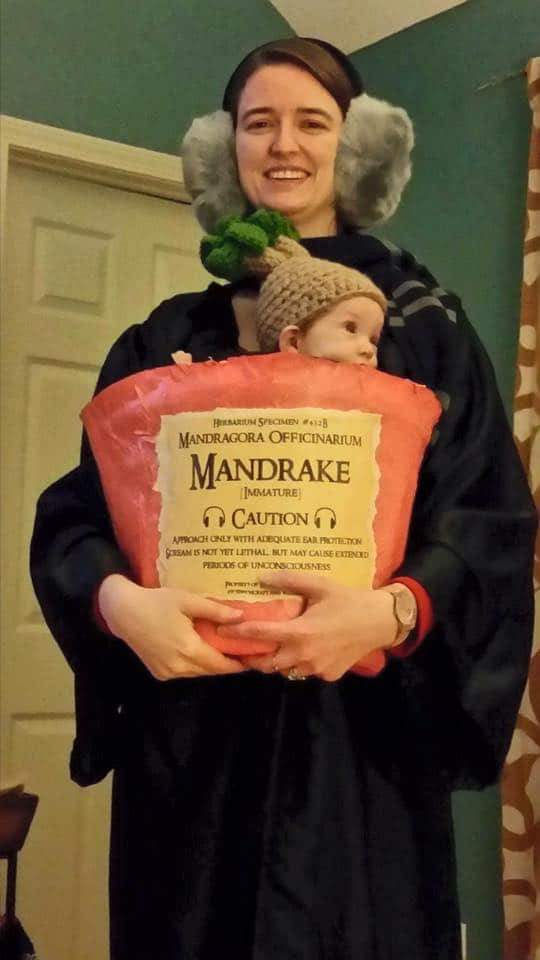Creative Babywearing Halloween Costumes - Professor Sprout & Mandrake