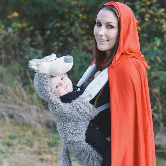 Creative Babywearing Halloween Costumes - Red Riding Hood & Big Bad Wolf