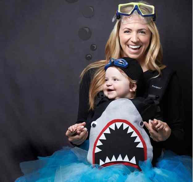 Creative Babywearing Halloween Costumes - Shark