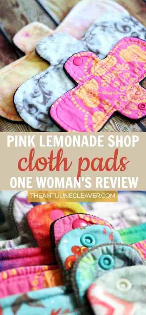 Pink Lemonade Shop cloth pads review #clothpads #femininecare #ecofriendly #mamacloth