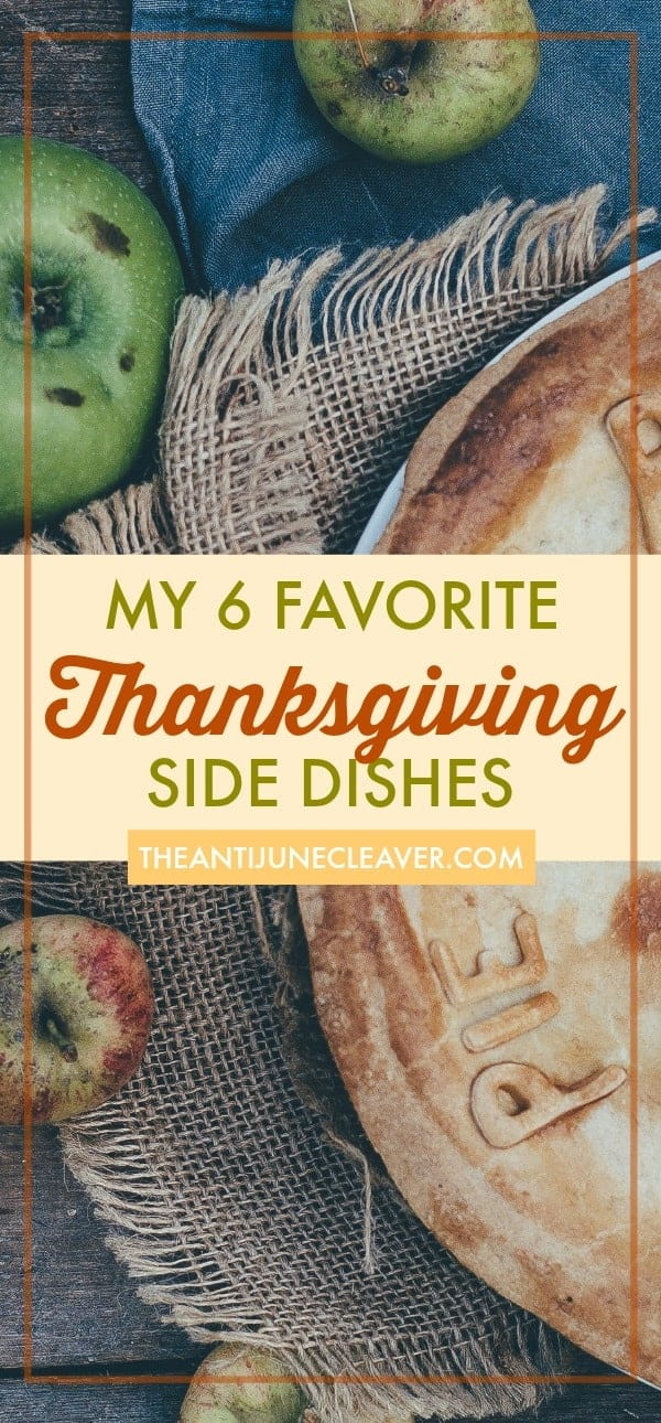 My 6 favorite homemade #Thanksgiving side dishes: cranberry sauce, creamed pearl onions, #crockpot stuffing, sweet potato pie, creamed spinach, sweet cornbread #recipes #thanksgivingrecipes #sidedishes #thanksgivingsides #holidays