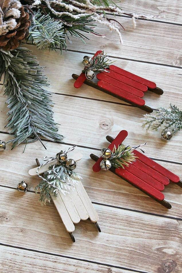 13 DIY Homemade Christmas Ornaments to make with the kids