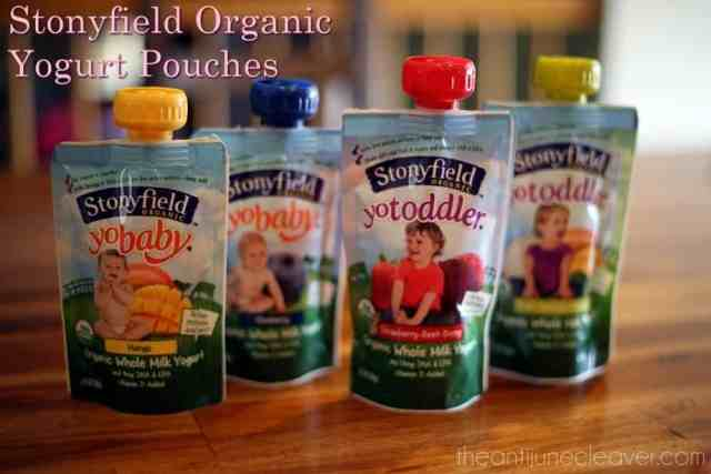 Stonyfield Organic Yogurt Pouches #MC #sponsored