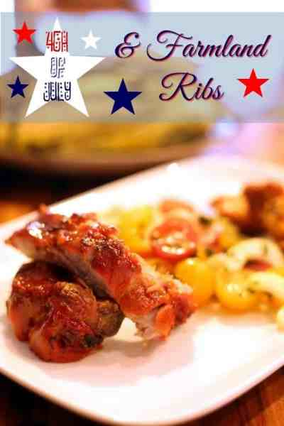 The 4th of July and Farmland ribs are the perfect combination! #ReadySetRibs #weavemade #ad