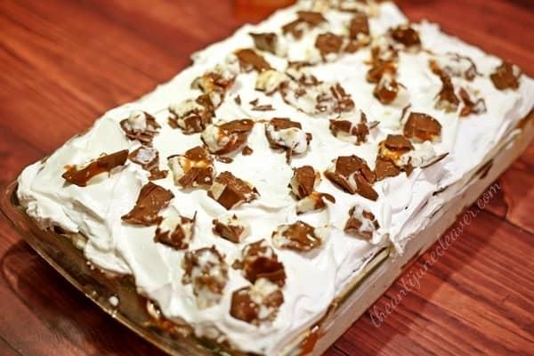Klondike Kandy Bar Ice Cream Sandwich Cake Recipe #KandyBar #weavemade #ad