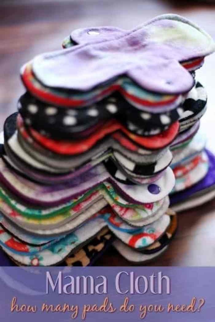 Mama Cloth - how many cloth pads do you need? #mamacloth