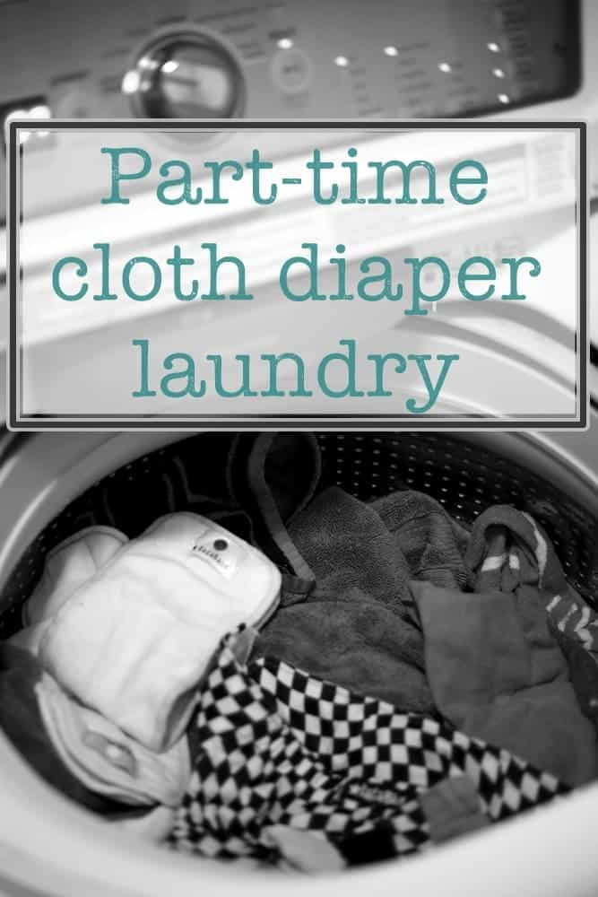 Washing cloth diapers part-time