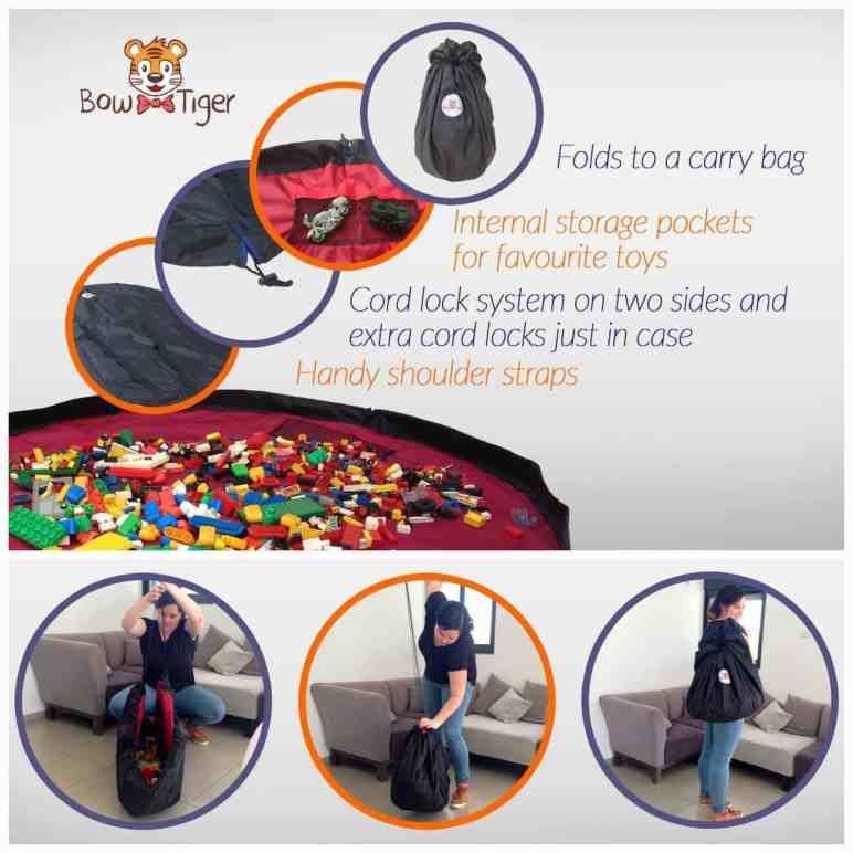 """Clean up is a breeze with the Bow-Tiger 60"""" activity mat {review}"""